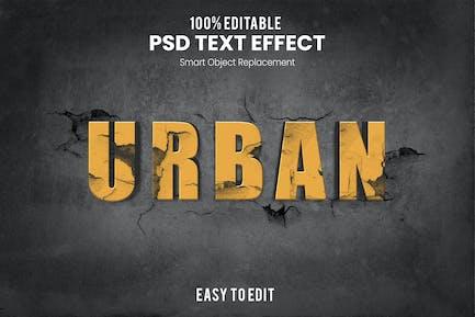Urban-3D Text Effect