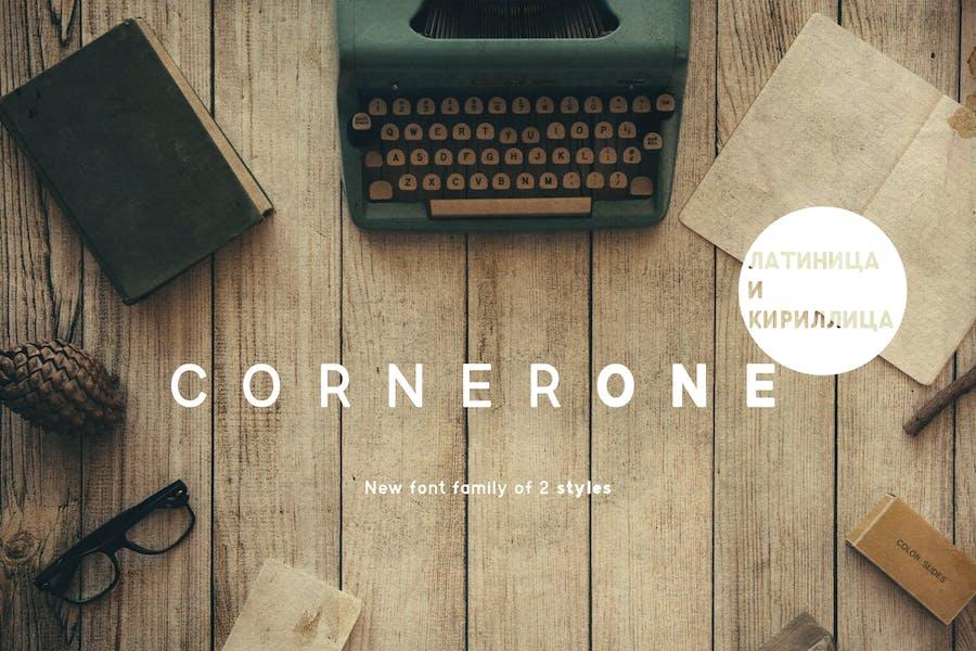 CornerOne Typeface