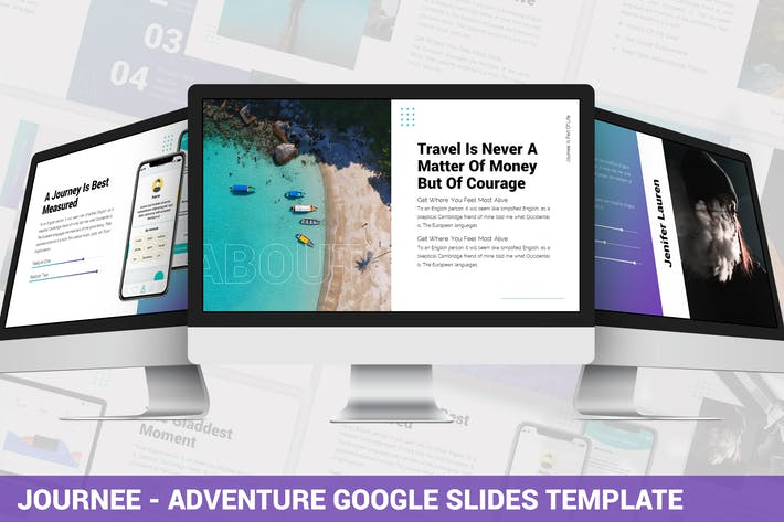 Thumbnail for Journee - Adventure Google Slides Vorlage