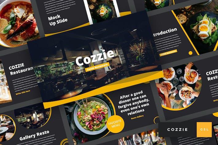 Cover Image For Cozzie - Restaurant Google Slides Template