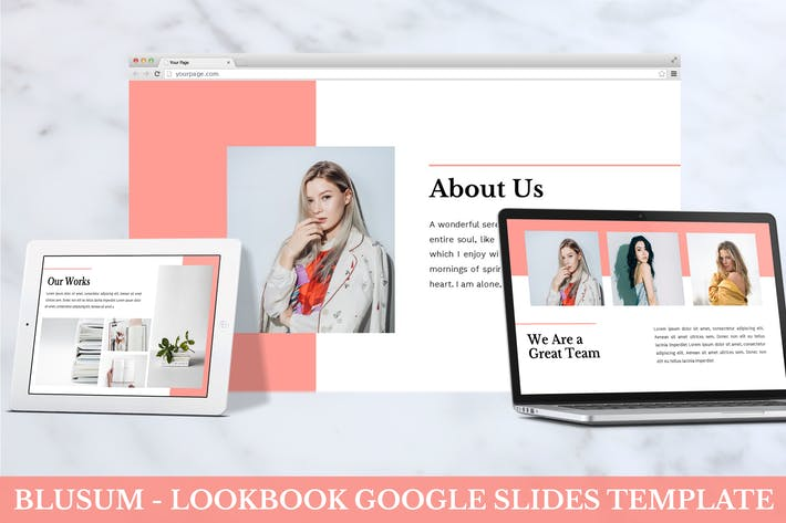 Thumbnail for Blusum - Lookbook Google Slides Template