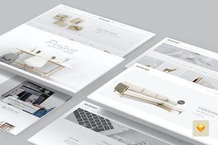 Rubino - Minimal & Creative Sketch Template