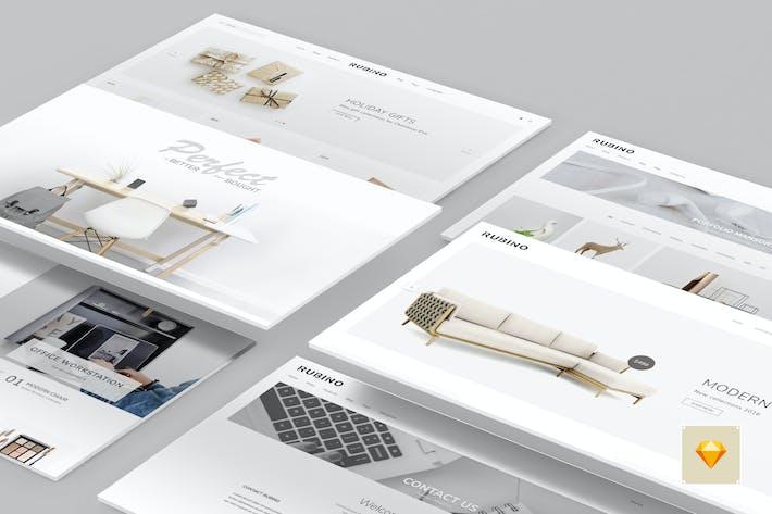 Thumbnail for Rubino - Minimal & Creative Sketch Vorlage
