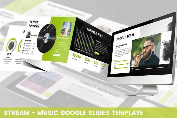 Thumbnail for Stream - Music Google Slides Template