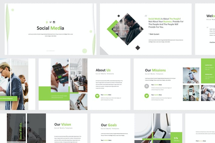 Thumbnail for Social Media Google Slides Template