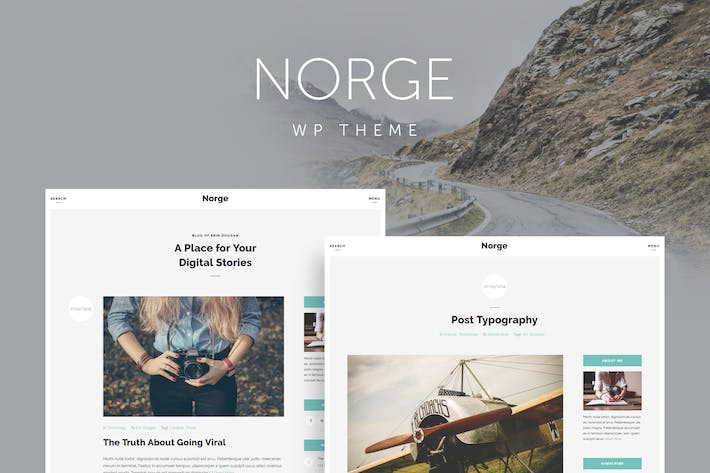 Thumbnail for Norge - Responsive Blog WordPress Thema