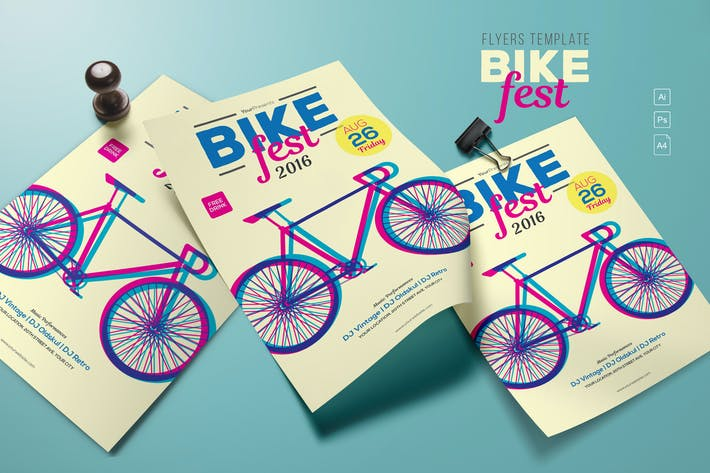 Thumbnail for Bike Fest Flyers Template
