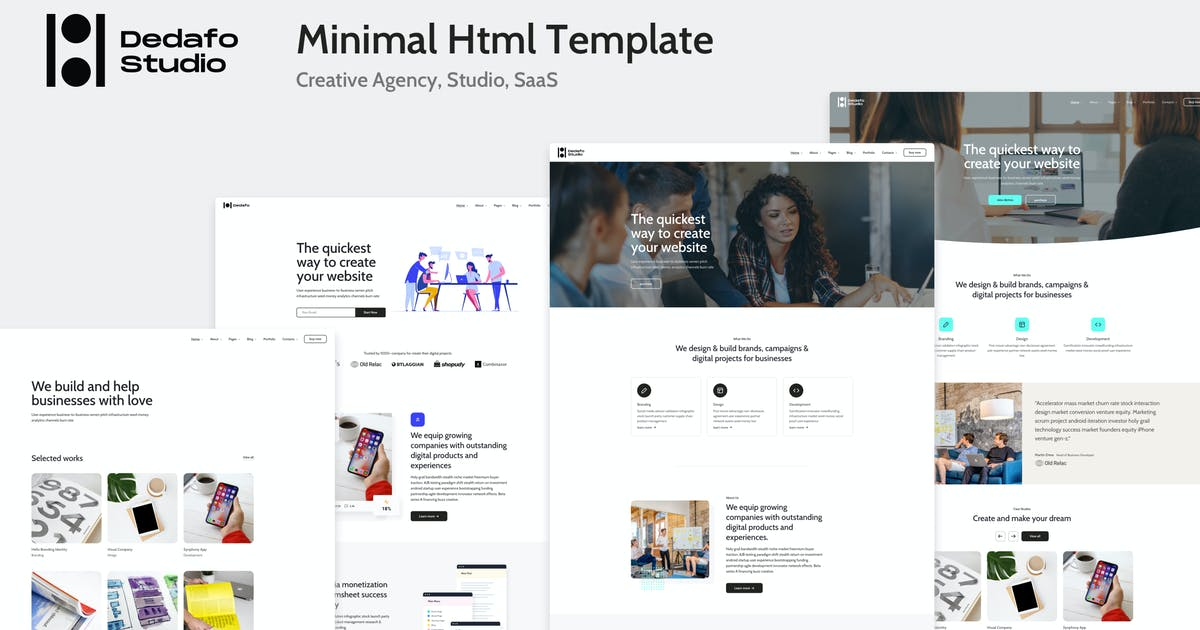 Download Dedafo - Corporate, Saas, Technology HTML Template by bepd