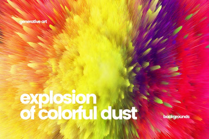Thumbnail for Explosion of Colorful Dust Backgrounds