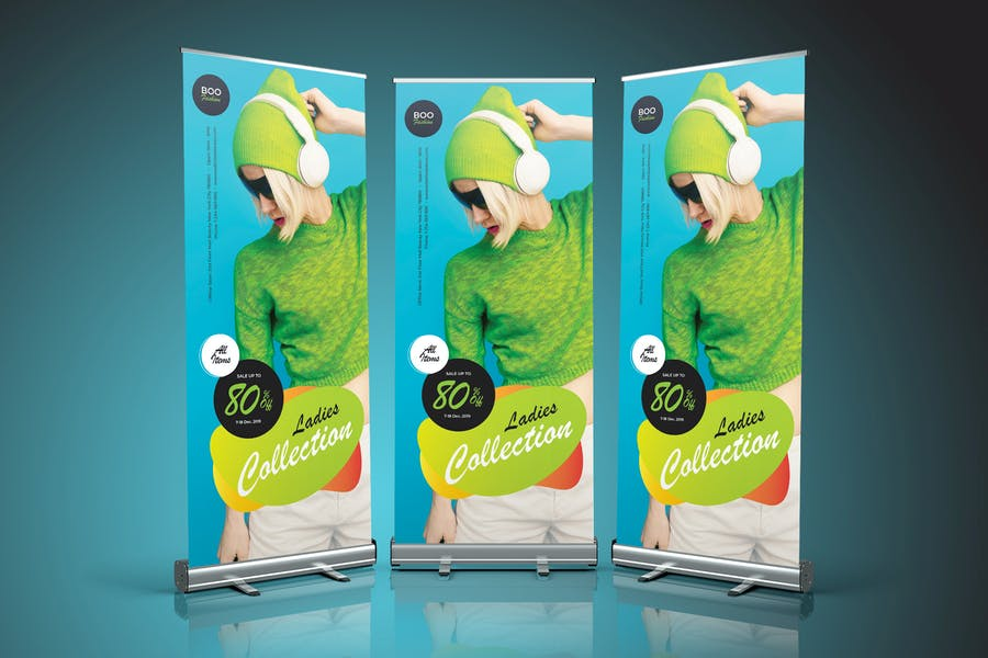 Fashion Sale Roll Up Banner 02