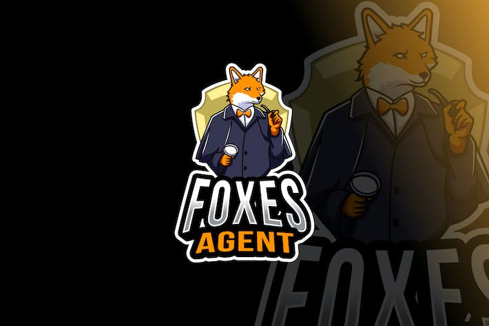 Thumbnail for Foxes Agent Logo Template