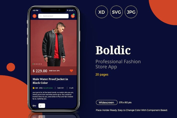 Boldic - App Fashion Store UI Kit - Slidewerk