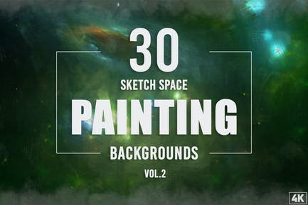 30 Sketch Weltraummalerei Hintergründe - Band 2