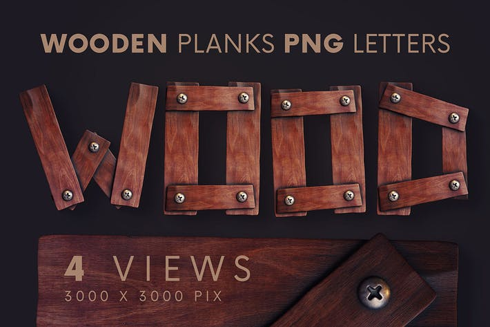 Thumbnail for Wooden Planks - 3D Lettering