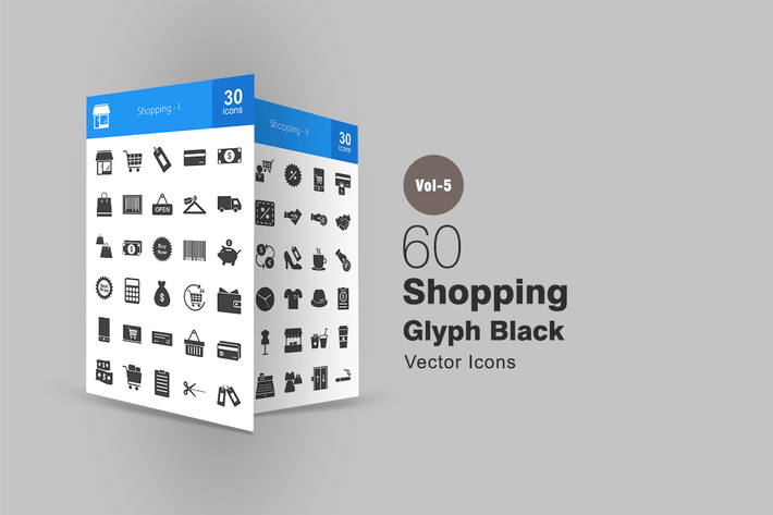 Thumbnail for 60 Shopping Glyph Icons