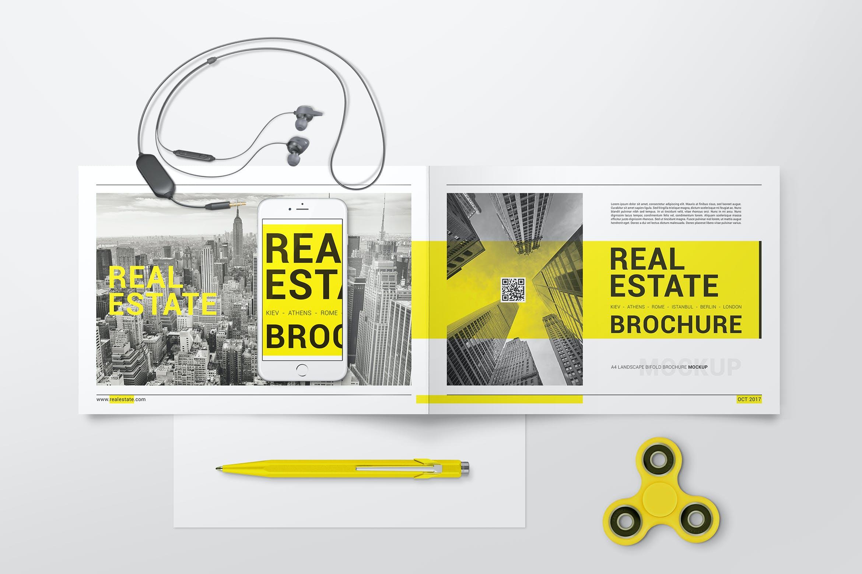 A4 Bifold Brochure Mockups 02 by StreetD on Envato Elements