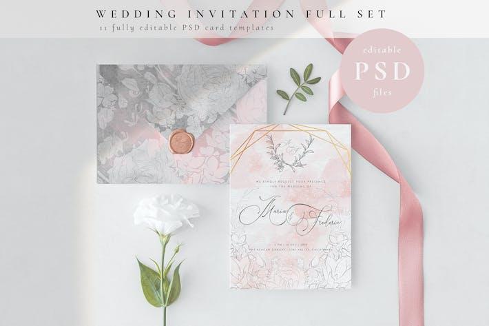 Thumbnail for Wedding Invitation Full Set