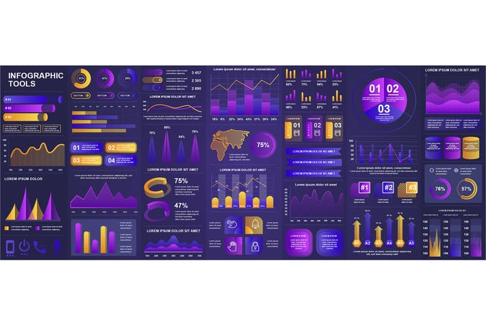 Thumbnail for Gradient Infographics Design Template
