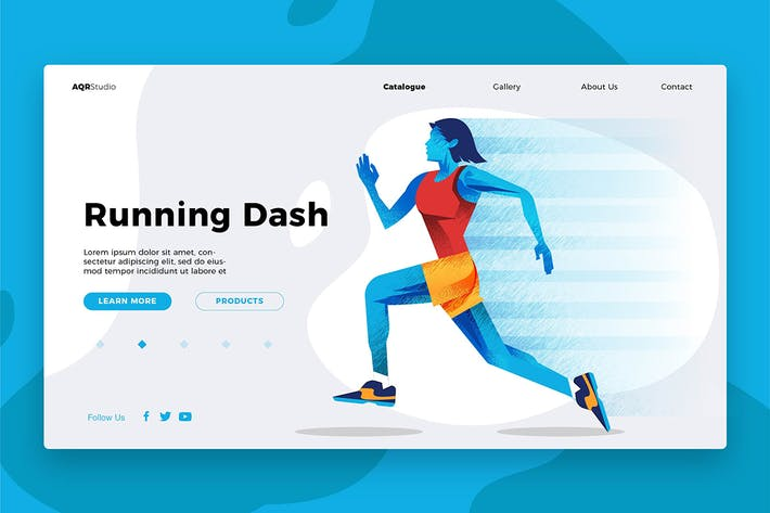 Thumbnail for Running - Banner & Landing Page