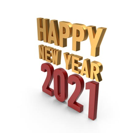 Happy New Year 2020 Symbol Gold and Red