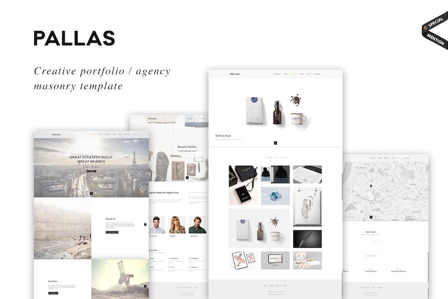 Pallas - Creative Masonry Portfolio Template