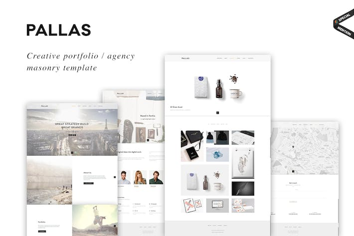 Pallas Creative Masonry Portfolio Template By Ig Design On Envato Elements