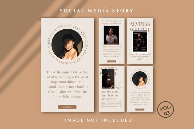Alvinsa Social Media Instagram Stories