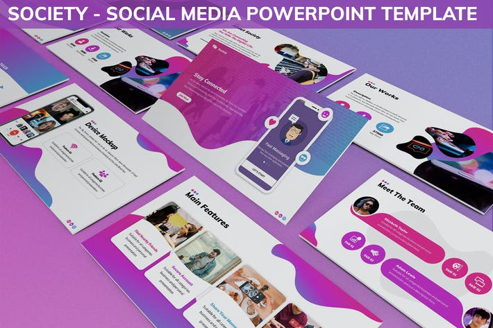 Thumbnail for Society - Social Media Powerpoint Template