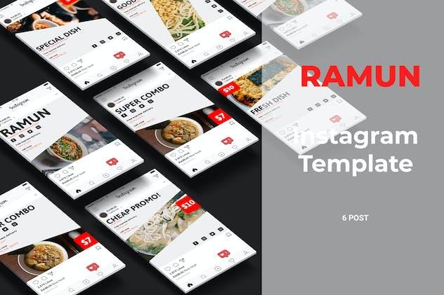 Ramun - Ramen Food Social Media Post Part 10 - product preview 0