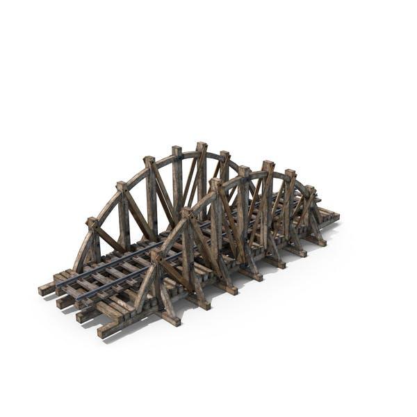 Деревянный железнодорожный мост