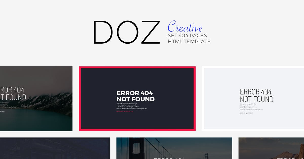 Download DOZ - Creative 404 Pages by Madeon08