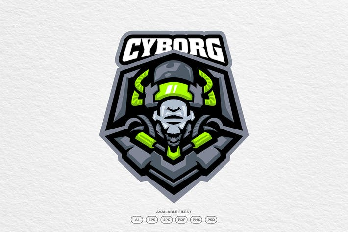 Cyborg Robot Experiment Science Laboratory Mascot