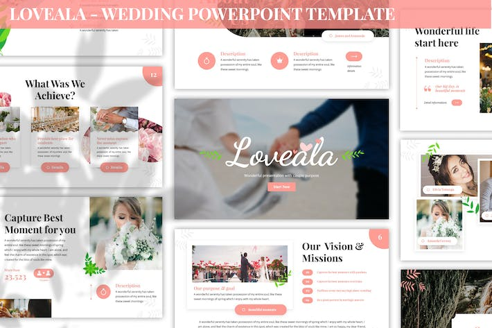 Thumbnail for Loveala - Wedding Powerpoint Template