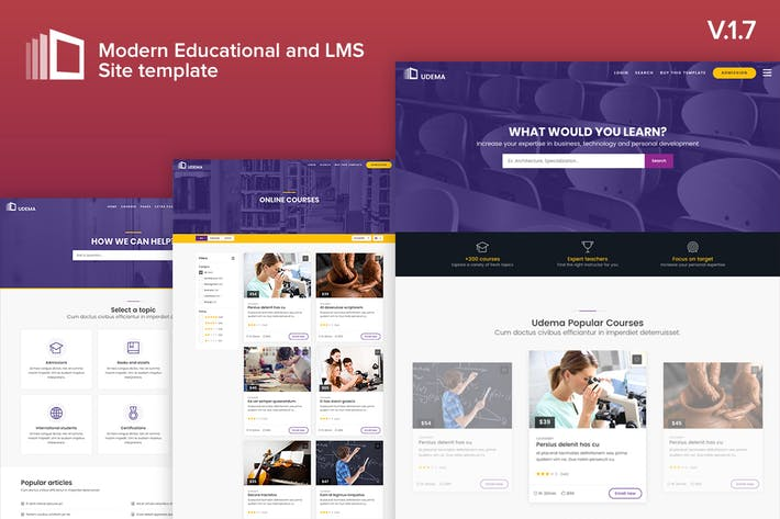 Thumbnail for Udema - Modern Educational Site Template
