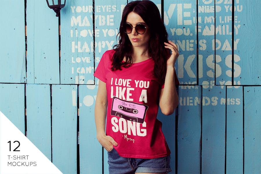 Female T-Shirt Mockup v2