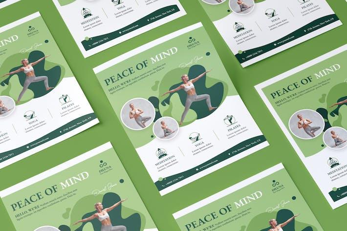 Thumbnail for Yoga Flyer PSD Template