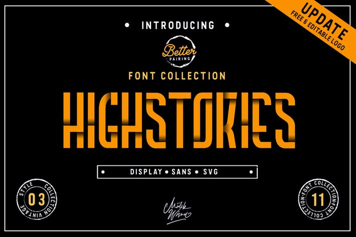 Thumbnail for Highstories - Font Collection