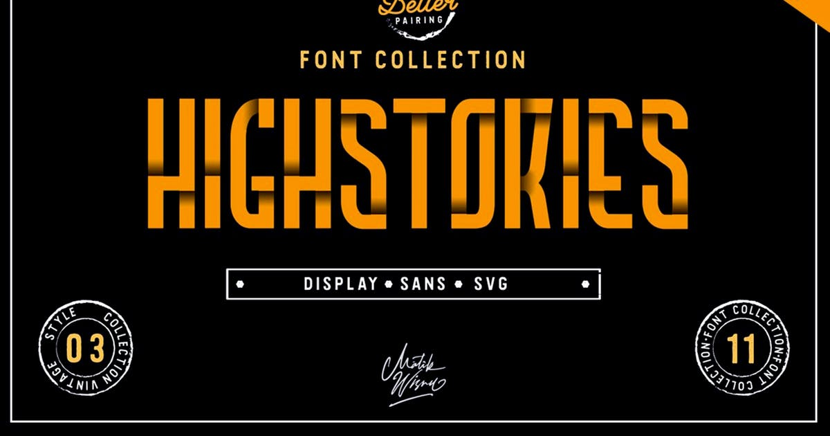 Download Highstories - Font Collection by mlkwsn