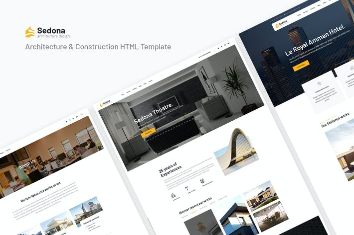 Thumbnail for Sedona | Architecture & Construction HTML Template
