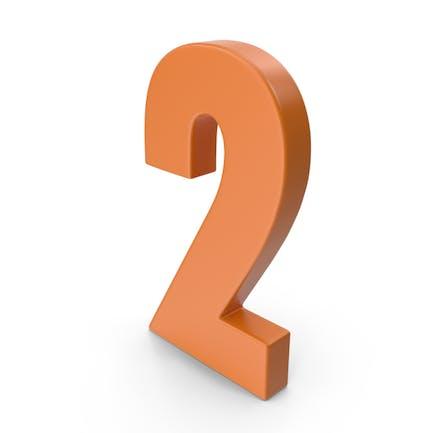 2 Number Orange