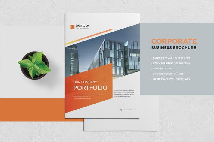 Thumbnail for Corporate Portfolio Brochure 18 pages