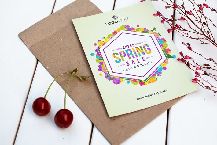 Thumbnail for Buntes sechseckiges Frühlingsposter