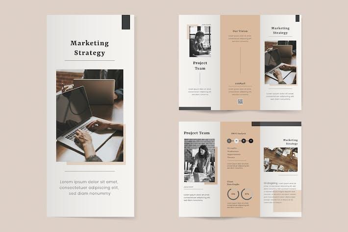Marketing trifold brochure editable template