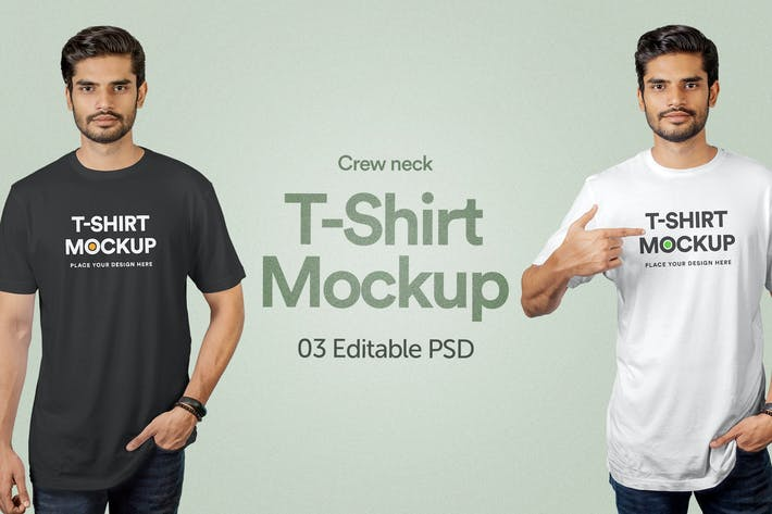 Thumbnail for T-Shirt Mockup - Vol 01