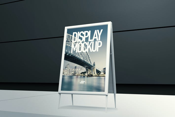 Thumbnail for 3D Display Banner Outdoor Mock-up