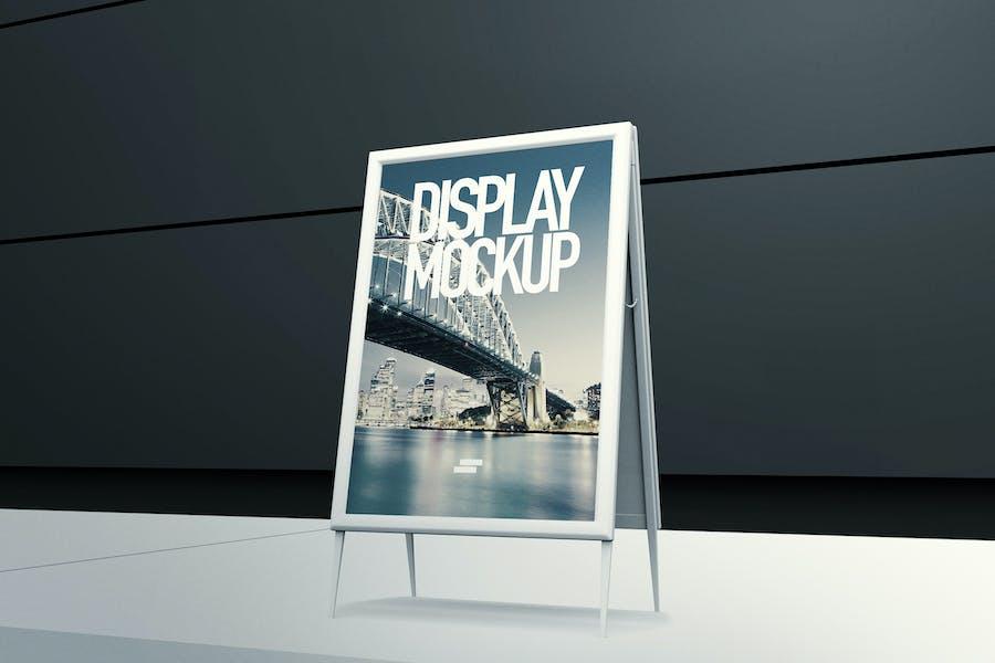 3D Display Banner Outdoor Mock-up