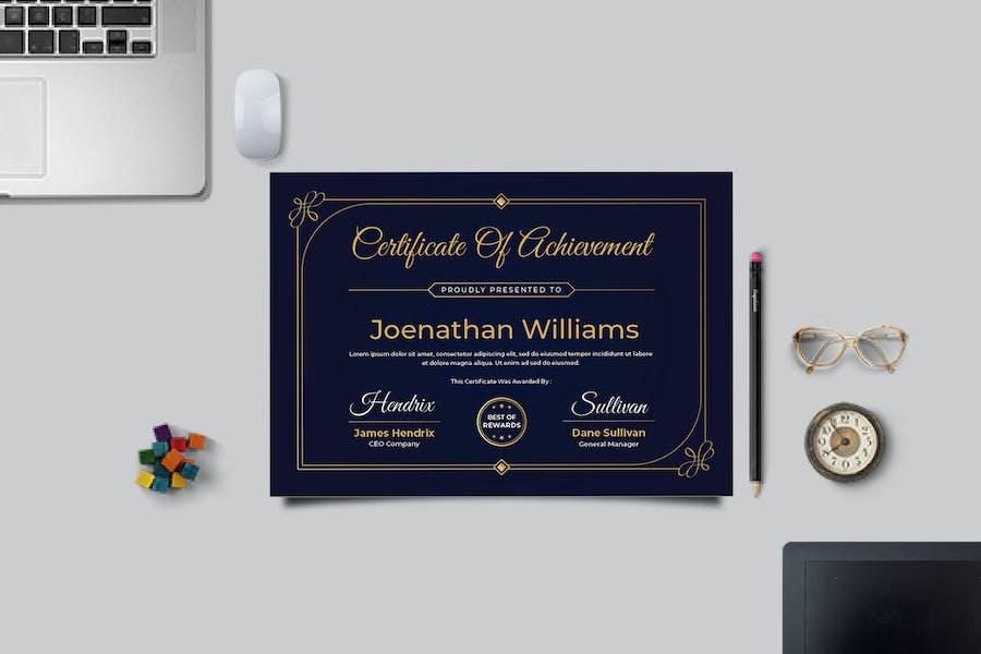 Vintage Awards Certificate Template