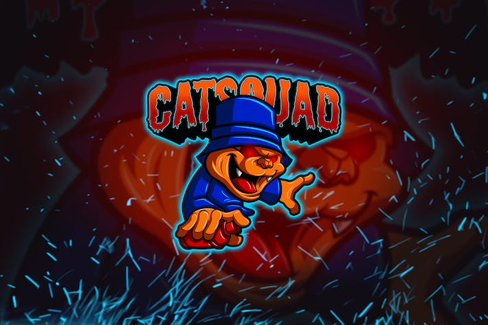 Thumbnail for Cat Squad - Esports & Mascot Logo YR