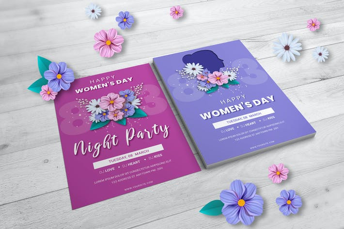 Thumbnail for Happy Womens Day Flyer Template
