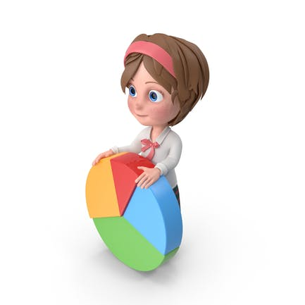 Cartoon Girl Meghan Holding Chart